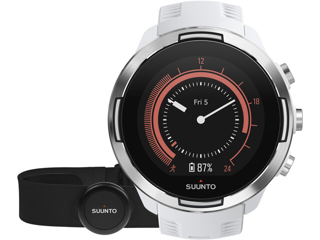 Suunto 9 GPS Multisport Watch with HR Belt, baro white
